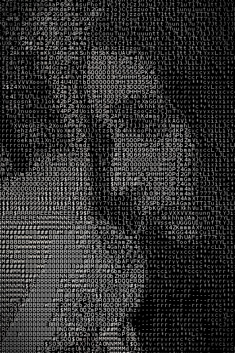 ascii art lady drinking from straw