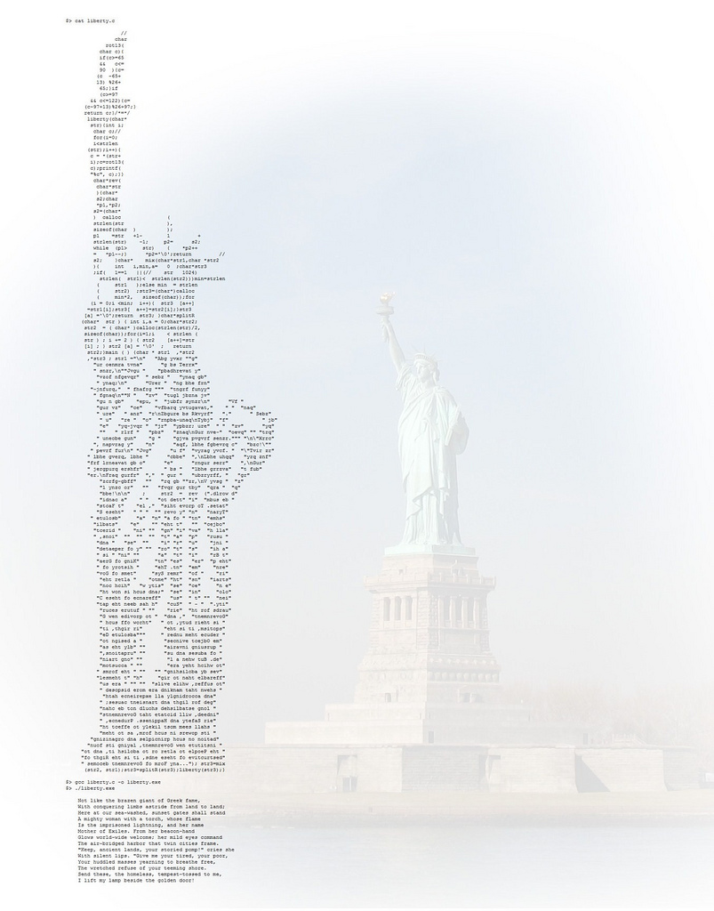 ascii art statue of liberty