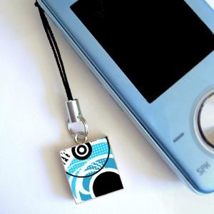phone with lanyard charm